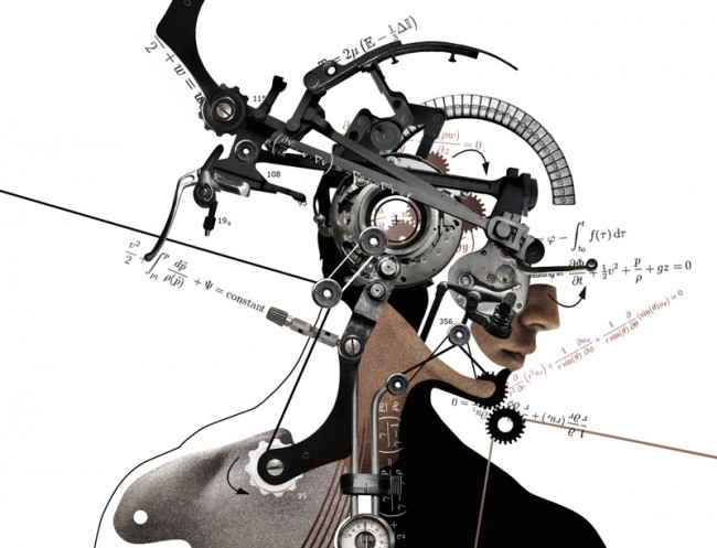 Human Physics Head: Collage for New Scientist Magazine (UK), 2010