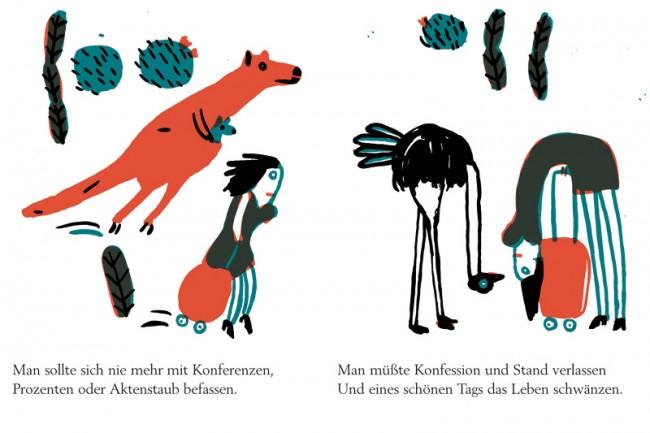 »Einmal sollte man«, illustriert von Franziska Schaum, Edition Büchergilde