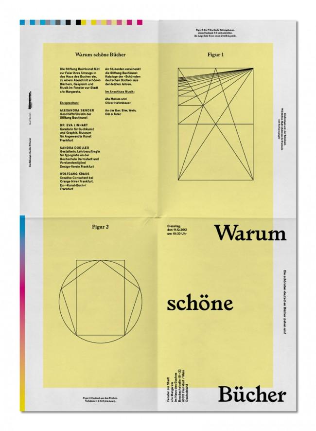 Warum schöne Bücher, Stiftung Buchkunst, Poster Design