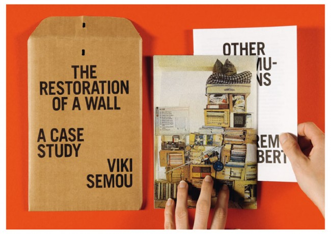 »The Restoration of a Wall — A Case Study«, Isabelle Vaverka, Dutch Art Institute, 2010