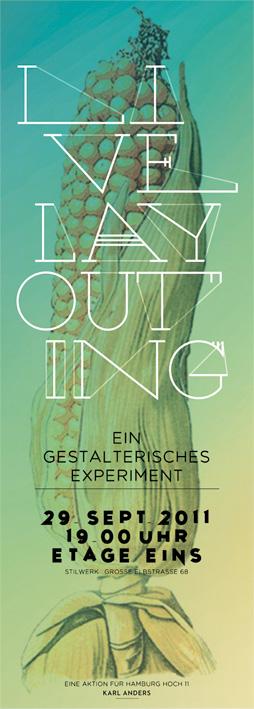Live Layouting, Experiment zur Identitätsfindung für Hamburg Hoch II