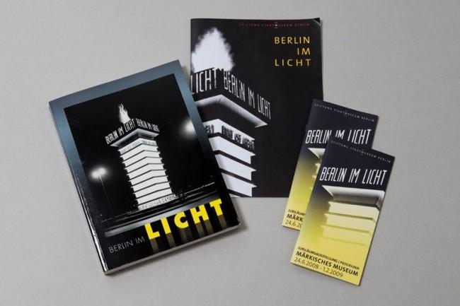 Werbemittel und Katalog  Sonderausstellung »Berlin im Licht«  Foto: Ali Gandtschi