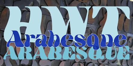 Bild Arabesque Hamilton Wood Type