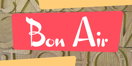 Bild Bon Air Hamilton Wood Type