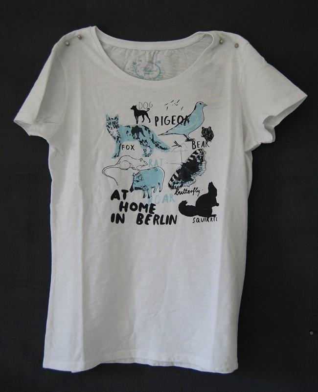 für mavi Jeans: T-shirt Aufdruck