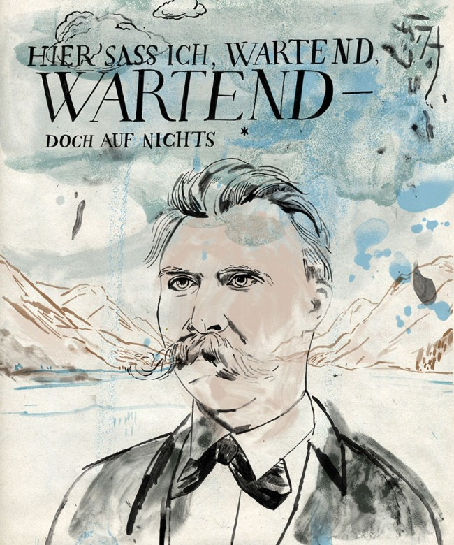 für »Hohe Luft«, Nietzsche Portrait