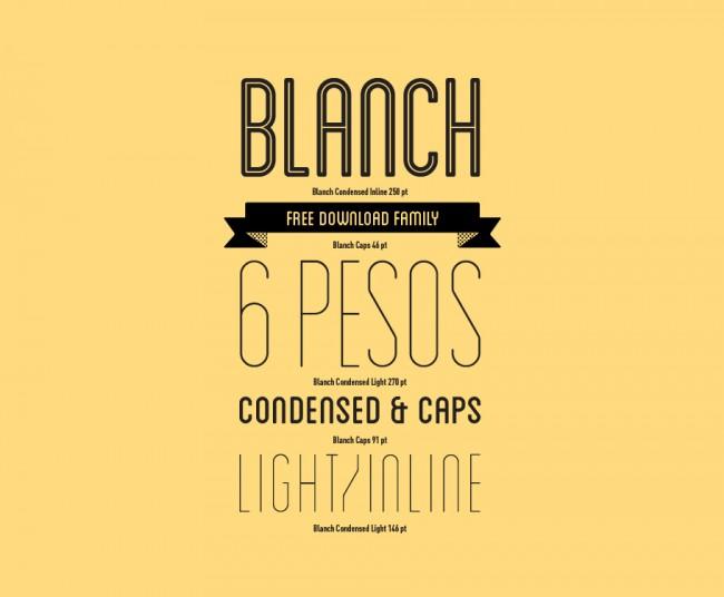 Blanch, Typedesign