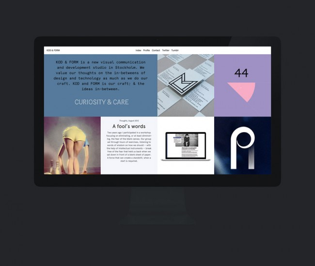 KOD & FORM, Website