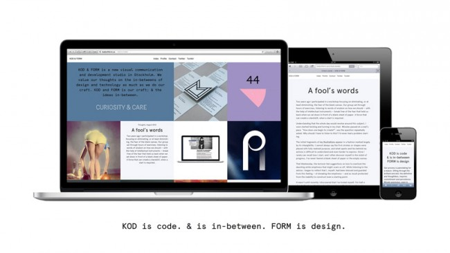 KOD & FORM, Website on all devices