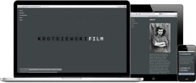 Krotkiewski, Film-Website on all devices