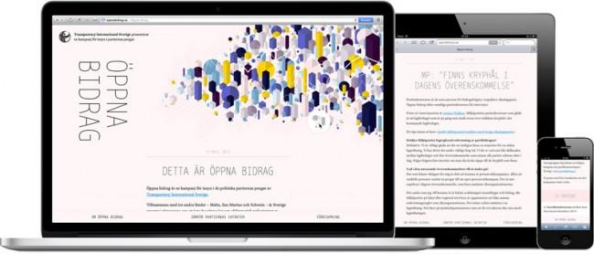 Oppna Bidrag, Website on all devices