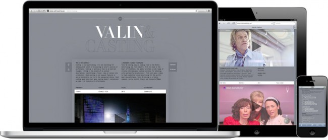 Valin and Casting, Website on all devices