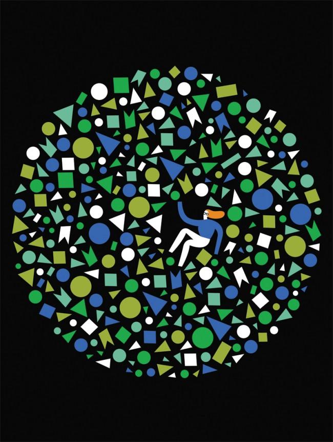 »La Repubblica« Illustration for italian newspaper La Repubblica about floating in space.