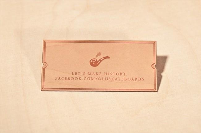 Visitenkarten aus Holz, die von Liebe zum Handwerk und zum Board zeugen: Old Skateboards