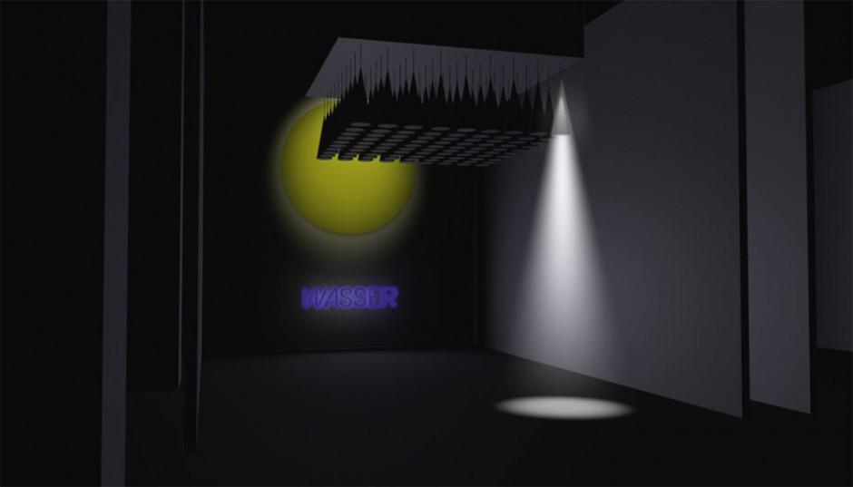 Merlin Baum: Kinetisches Lichtobjekt / Sonne und Wasser