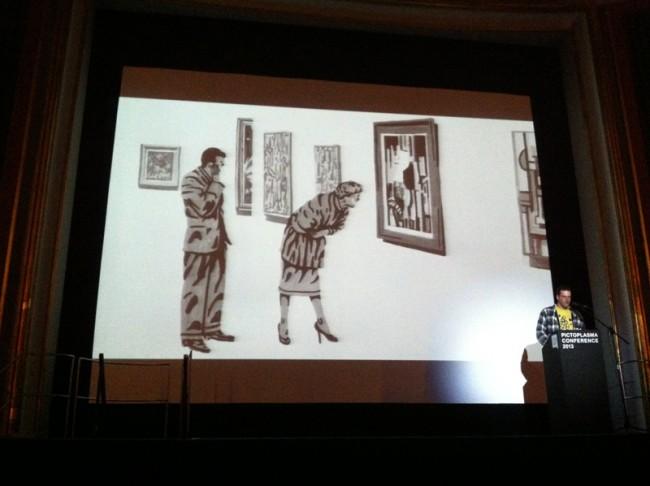 Ted Parker in einer Ausstellung