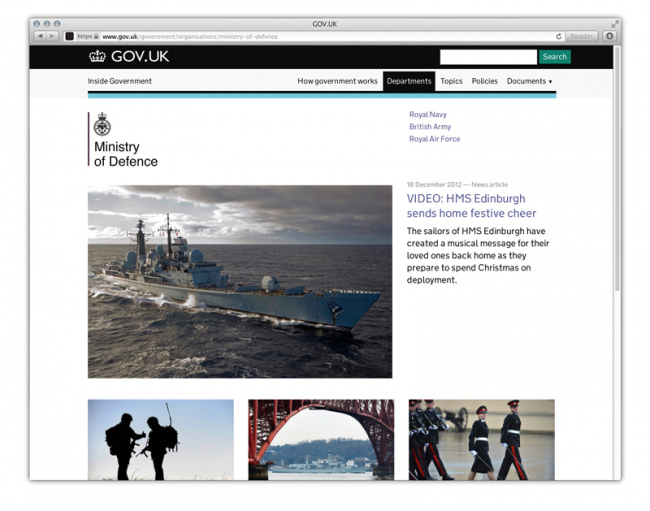Digital: GOV.UK WEBSITE – Designed by Government Digital Service