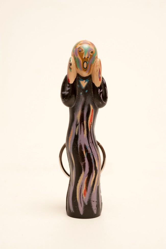 »Der Schrei« als Schlüsselanhänger, nach Edvard Munch »Der Schrei« Robert Fishbone, On The Wall Productions, Inc.USA, 1991 Kategorie: Relieftranspositionen