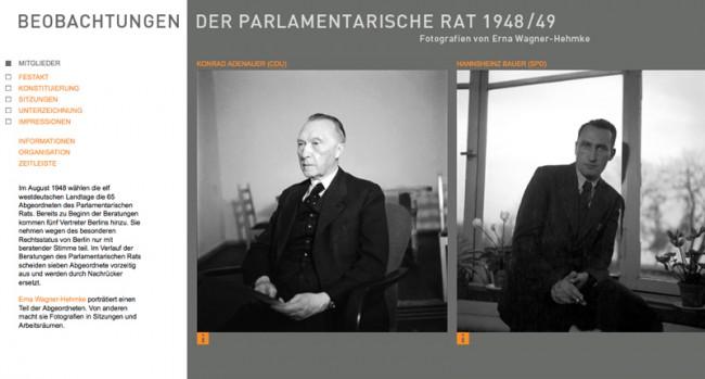 Online-Ausstellung für das Haus der Geschichte Bonn: parlamentarischerrat.de