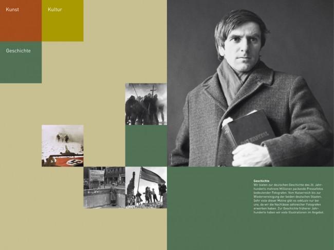 Erscheinungsbild für das Bildarchiv Preussischer Kulturbesitz: hier > Imagebroschüren-Doppelseite