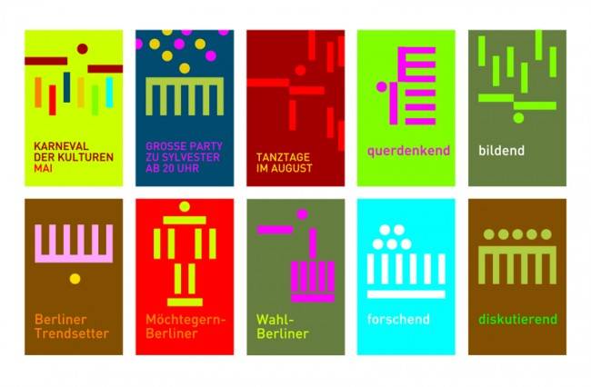 Idee für ein einheitliches, felxibel einsetzbares Berliner-Logokonzept