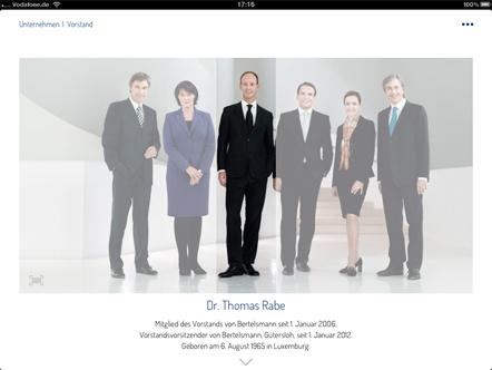 Bild Bertelsmann Geschäftsbericht 2012 App