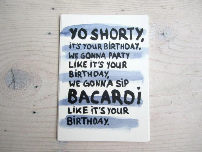 Birthday Card »Yo Shorty«