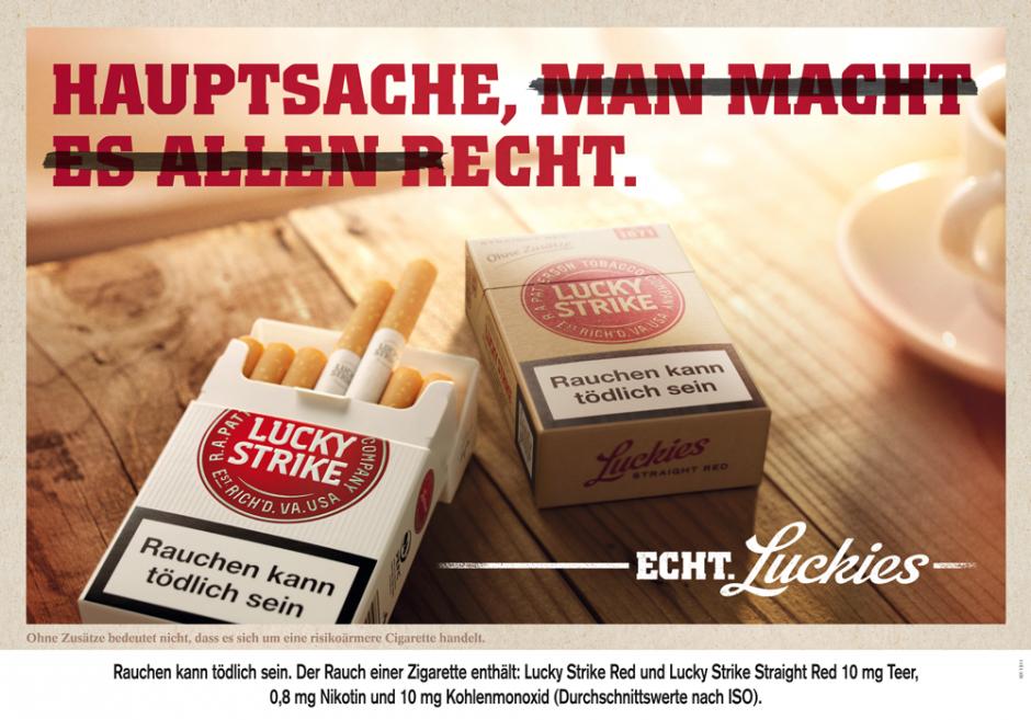 Ein Motiv aus der neuen Lucky Strike Kampagne