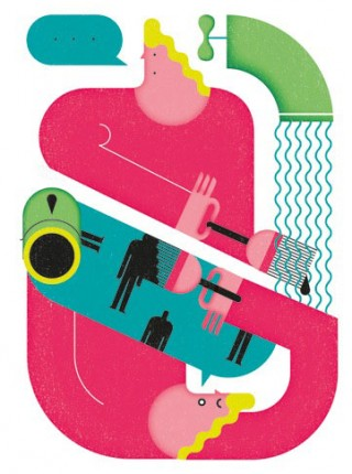 Illustrations for Helsingin Sanomat newspaper