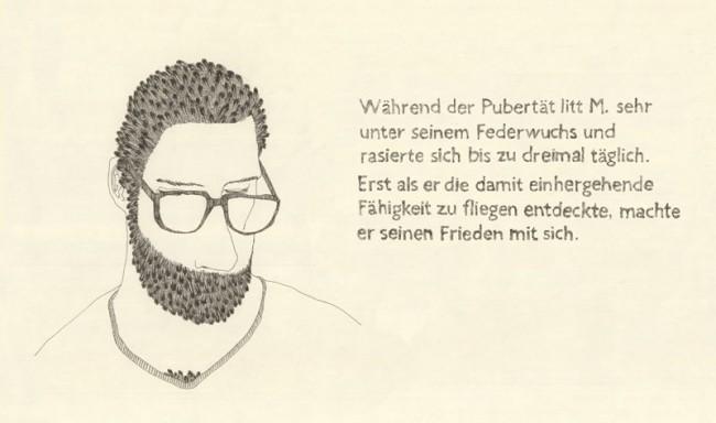 »Bärtige Männer mit viel zu großen Nasen«: Der Titel ist Programm, ein Buchprojekt mit vielen Bärten und Nasen