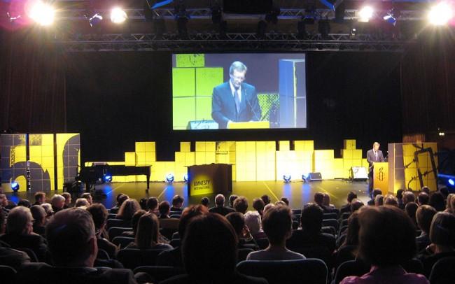 Bühne für den 6. Amnesty International Menschenrechtspreis
