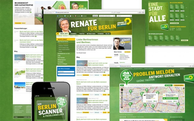 Grüne Berlin, Screendesign
