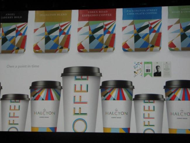 Identity für die Kaffeekette Halcyon von Simon Manchipp von SomeOne