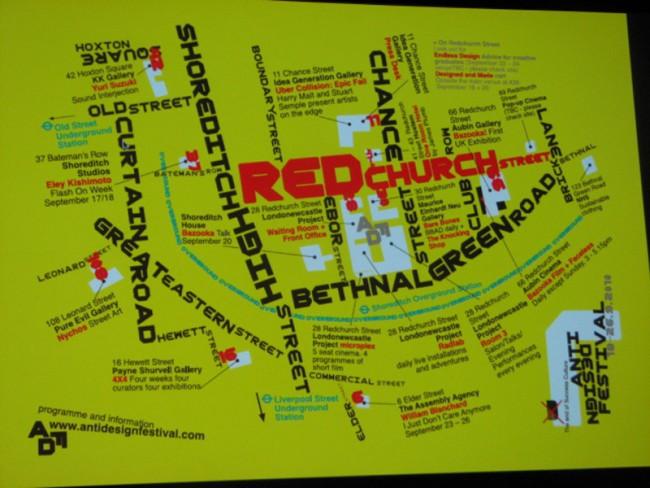 Map für das Antidesign Festival von Neville Brody