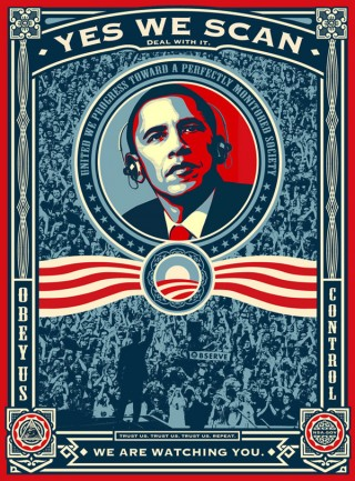 René Walter von nerdcore.de hat das legendäre Obama-Poster von Shepard Fairey leicht überarbeitet