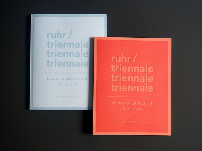 Corporate Design  Ruhrtriennale 2012-2014, Programmbücher, 2012-2013