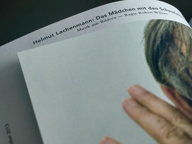 Corporate Design Ruhrtriennale 2012-2014, Detailansicht Programmbuch, 2013
