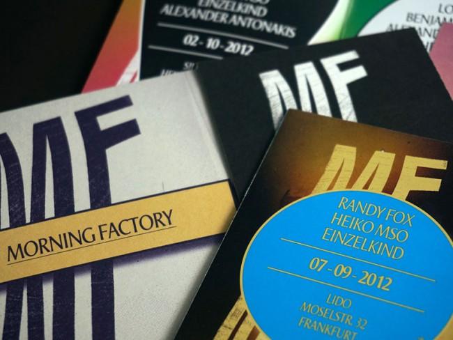 Art Direction Morning Factory, Programmflyer, 2013