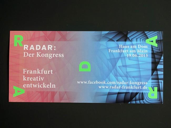 Radar: Der Kongress, Einladungskarte, 2013