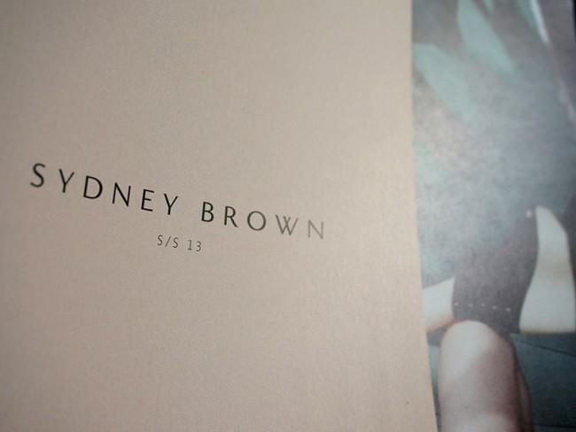 Corporate Design für Sydney Brown, Katalog, 2012