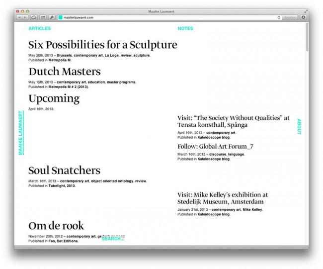 Webgestaltung für Maaike Lauwaert