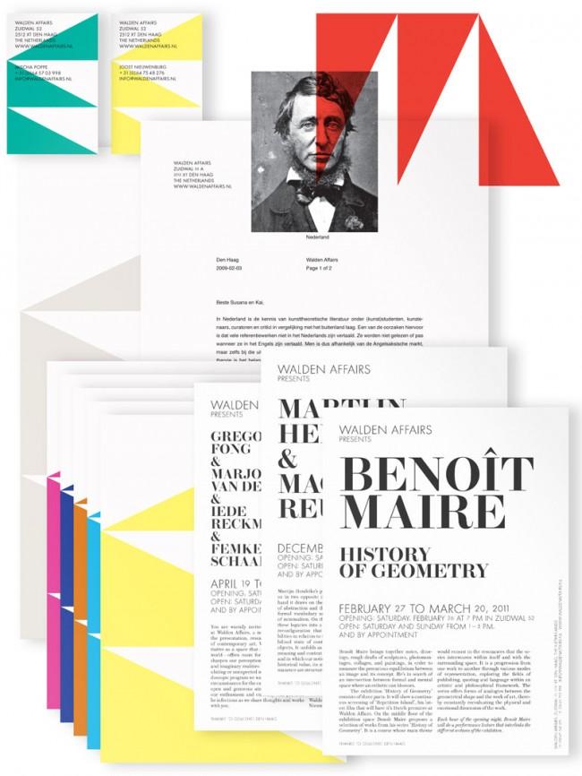 Corporate Design für Walden Affairs, Projektraum für zeitgenössische Kunst