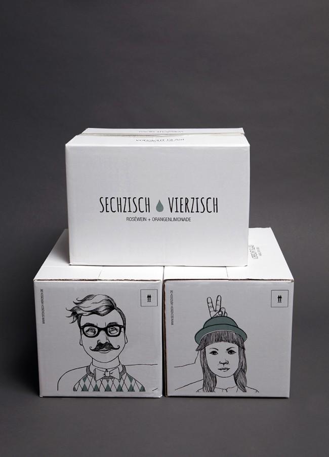 Kisten | Kunde: Sechzisch Vierzisch (Geschäftsinhaber: Patrick Lohmann) | Umsetzung: AiLaike Natural Beverages in Kooperation mit Mathilda Mutant