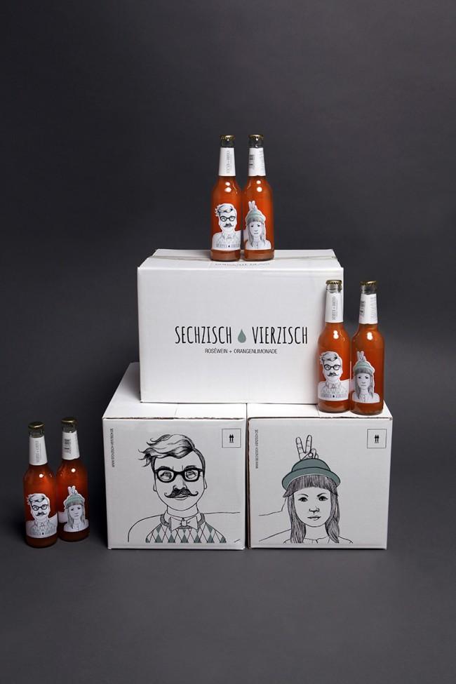 Kisten mit Flaschen | Kunde: Sechzisch Vierzisch (Geschäftsinhaber: Patrick Lohmann) | Umsetzung: AiLaike Natural Beverages in Kooperation mit Mathilda Mutant