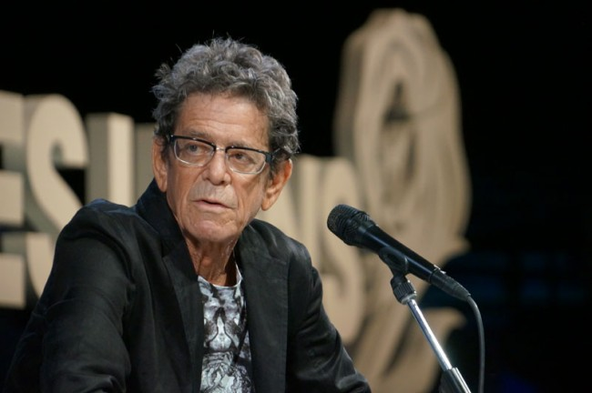 Cooler Besuch: Lou Reed in Cannes