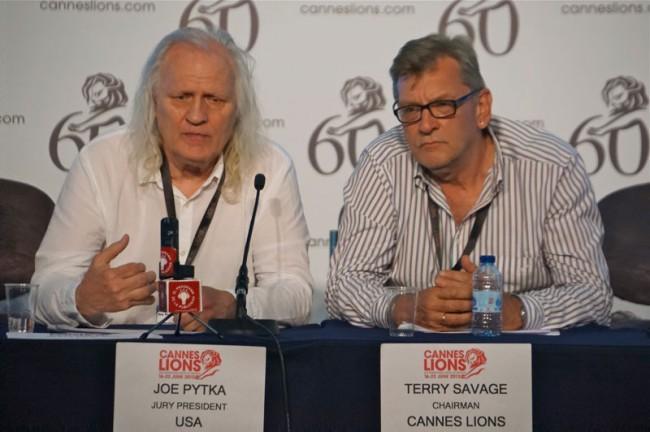 Jury-Präsident Joe Pytka und Cannes Lions Chairman Terry Savage