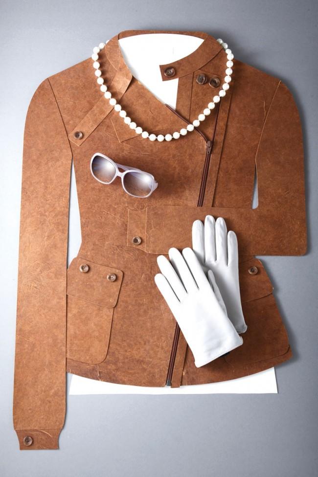 »Damenjacke«, aus der Serie »Papierbekleidung«, Fotograf: Heidi Fröhlich