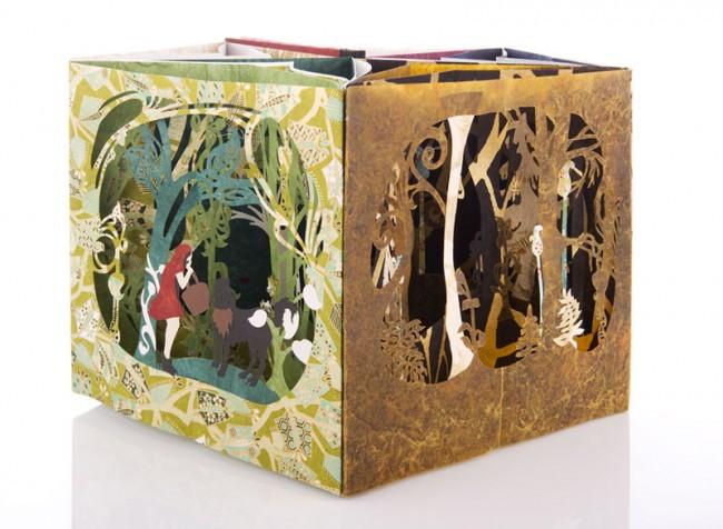 Karrusselbuch »Rotkäppchen« aus einer Märchenserie, Unikat