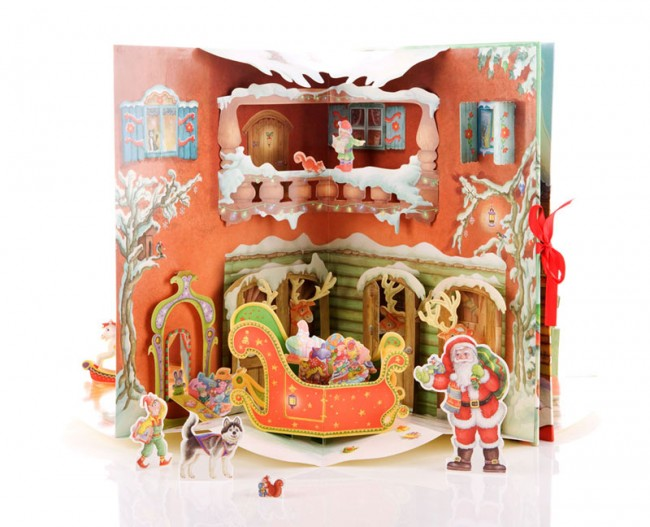Karrusselbuch »Santa's House«, Paper Engineering für Brushfire Ltd.