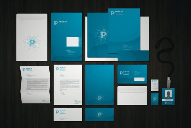 Das systematisch ausgearbeitete Corporate Design der Pacific Trading Group von Crono Le basiert wesentlich auf der symbolhaften Auffassung von Container-Silhouetten als sich verstreuende Pixel